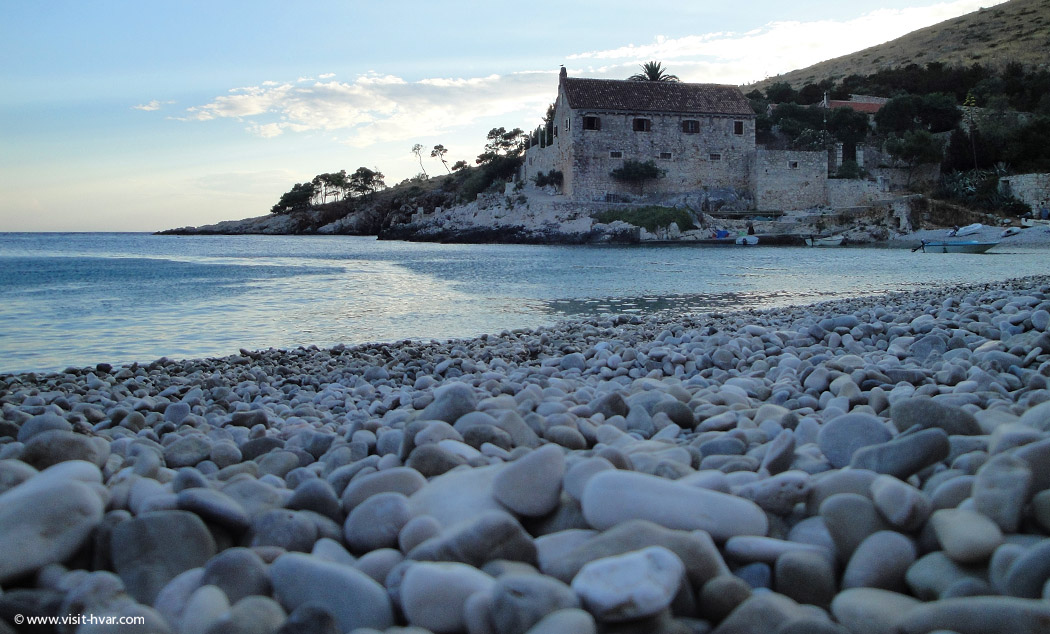 Dubovica beach island Hvar