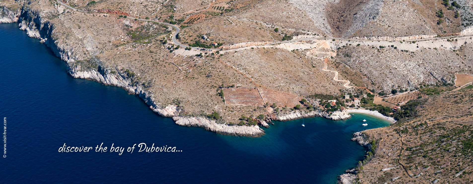 Beautiful secluded bay Dubovica is situated on the southern coast of the island of Hvar.